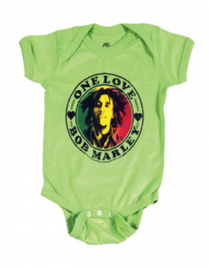 Body Bebé Bob Marley One Love Lime