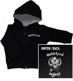 Chaqueta para niños de Motörhead England con cremallera y capucha