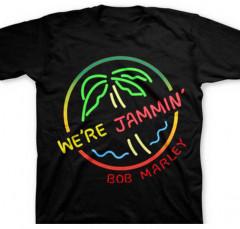 Camiseta Bob Marley Neon Sign para niños