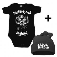 Juego de regalo con body de Motörhead y Loud & Proud Gorrita