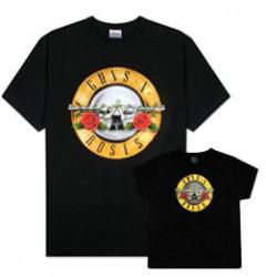 Duo Rockset con camiseta para papá de Guns 'n Roses y camiseta para bebé de Guns 'n Roses