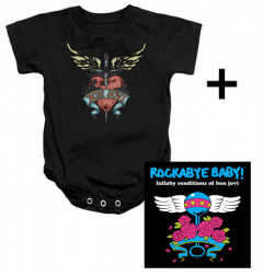 Juego de regalo con body de Bon Jovi y CD Rock Baby Lullaby de Bon Jovi