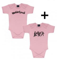 Juego de regalo con body de Motörhead Pink y body de Slayer Pink