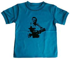 Camiseta Johnny Cash eco vintage blue para niños