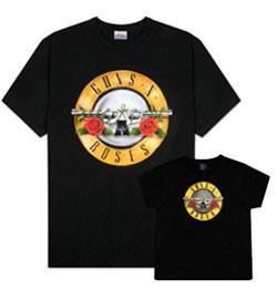 Duo Rockset con camiseta para papá de Guns 'n Roses y camiseta para niños de Guns 'n Roses