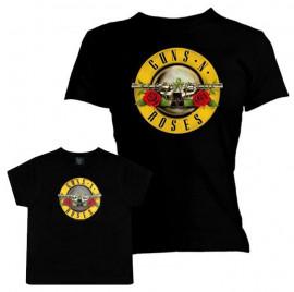 Duo Rockset con camiseta para mamá de Guns 'n Roses y camiseta para bebé de Guns 'n Roses