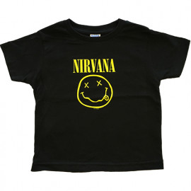 Camiseta Nirvana Smiley para niños