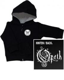 Chaqueta para bebé de Opeth con cremallera y capucha