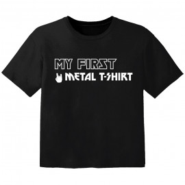 Camiseta Rock para niños my first Metal T-Shirt
