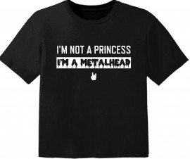 Camiseta Metal para bebé I'm not a princess I'm a Metalhead