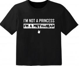 Camiseta Metal para bebé I'm not a princess I'm a Metalhead