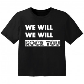 Camiseta Rock para bebé we will we will rock you