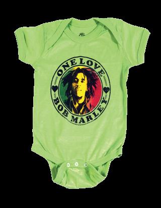 Body Bebé Bob Marley One Love Lime