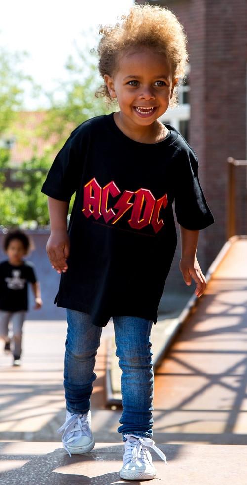 ACDC Kinder T-Shirt Logo colour ACDC photoshoot