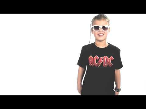 Camiseta AC/DC para niños Logo Colour