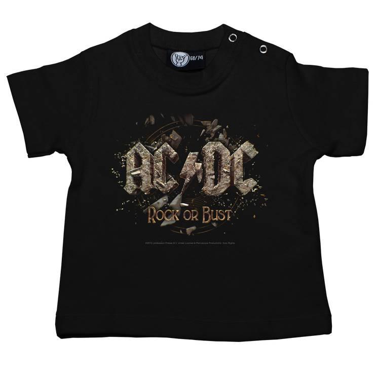 Camiseta AC/DC Rock or Bust para bebé