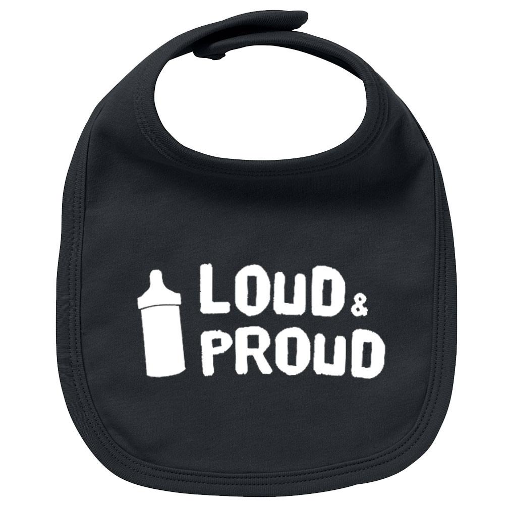 Babero bebe Rock loud & proud
