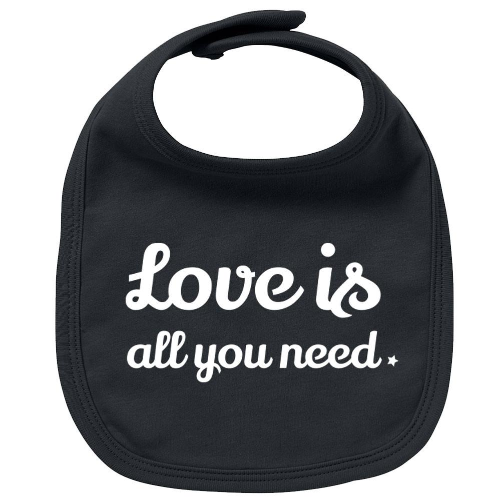 Babero bebe Rock love is all you need