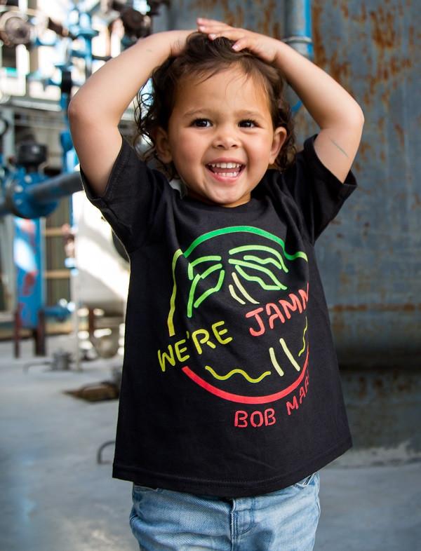 Bob Marley kids t-shirt - rock kids playing