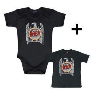 Juego de regalo con body de Slayer Silver Eagle y camiseta para bebé de Slayer Silver Eagle