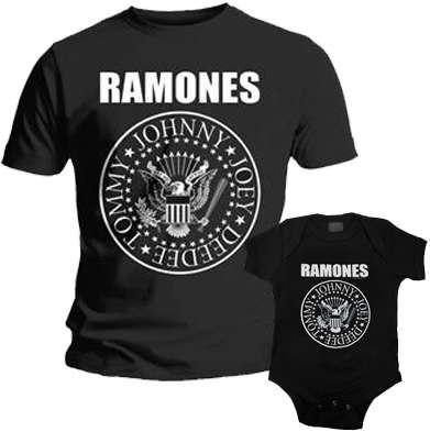 Duo Rockset con camiseta para papá de Ramones y body para bebé de Ramones