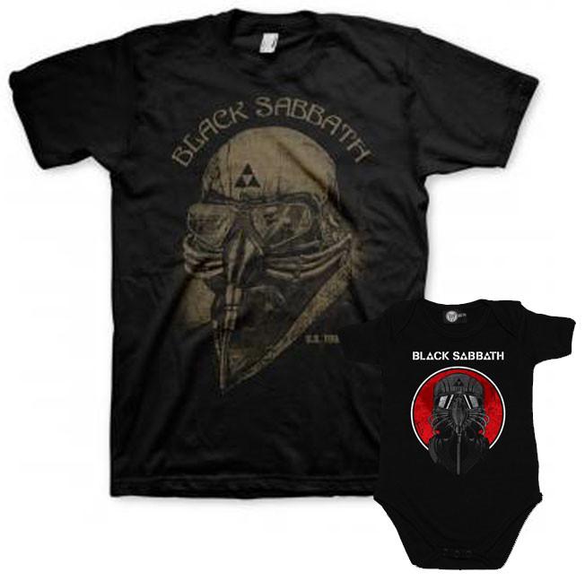Duo Rockset con camiseta para papá de Black Sabbath y body para bebé de Black Sabbath