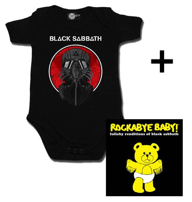 Juego de regalo con body de Black Sabbath y CD Rock Baby Lullaby de Black Sabbath