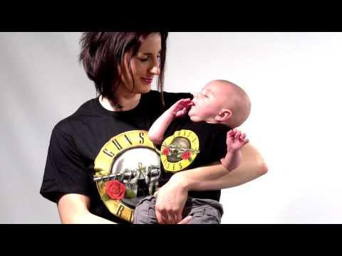 Duo Rockset con camiseta para mamá de Guns 'n Roses y camiseta para Niños de Guns 'n Roses