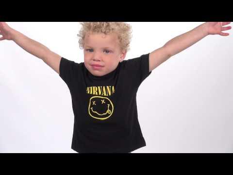 Duo Rockset con camiseta para papá de Nirvana y camiseta para niños de Nirvana