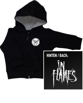 Chaqueta para niños de In Flames con cremallera y capucha