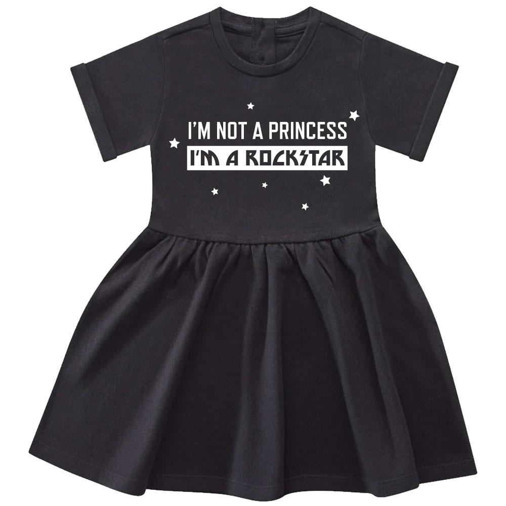 Vestido Bebés I'm not a princess I'm a rockstar