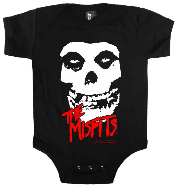 Misfits Baby Onesie Ghost White Red