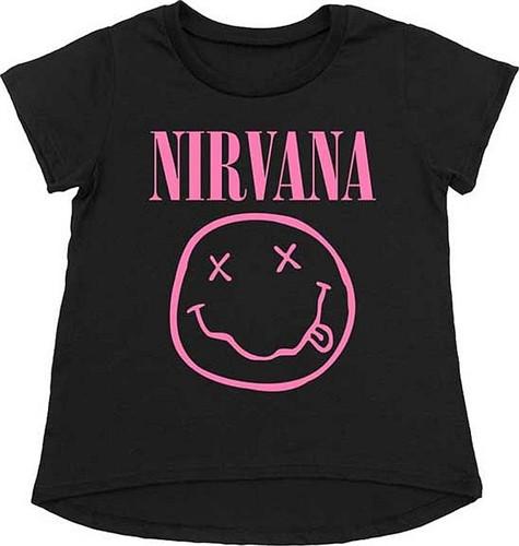 Camiseta Nirvana Smiley Pink para niños