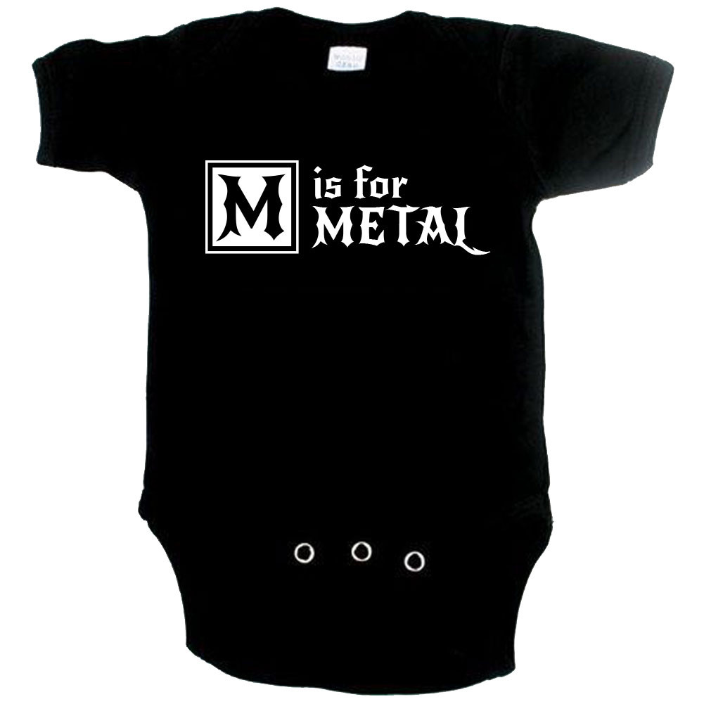 Body Bebé Metal M is for Metal