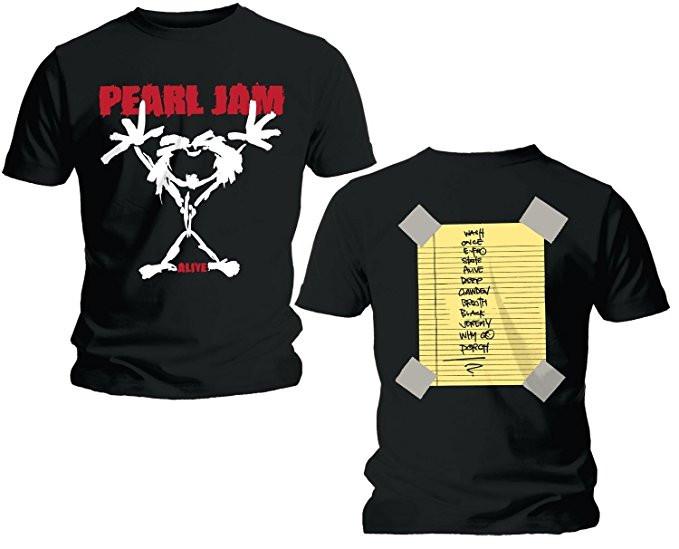 Duo Rockset con camiseta para papá de Pearl Jam y body para bebé de Pearl Jam