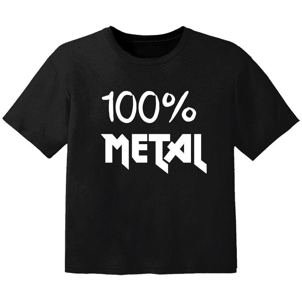 Camiseta Metal para bebé 100% Metal