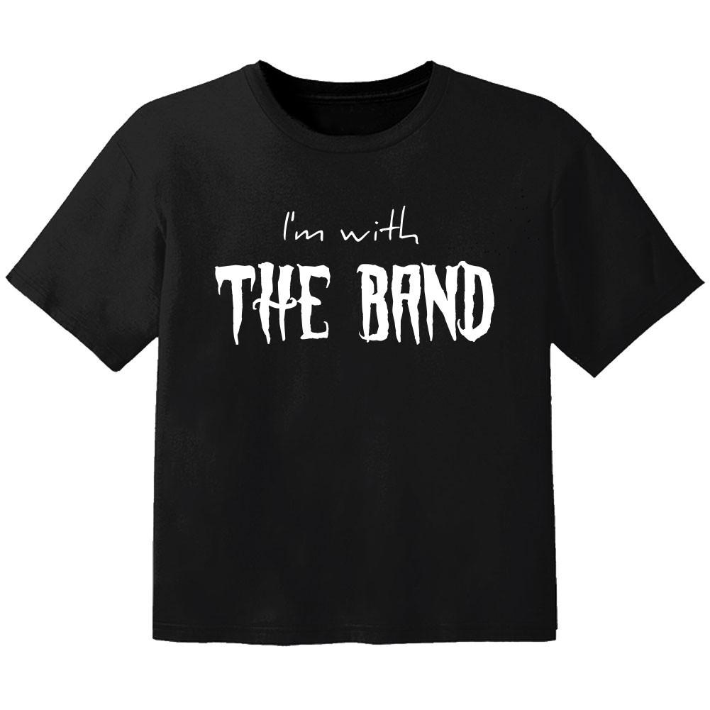 Camiseta Rock para bebé I'm with the band