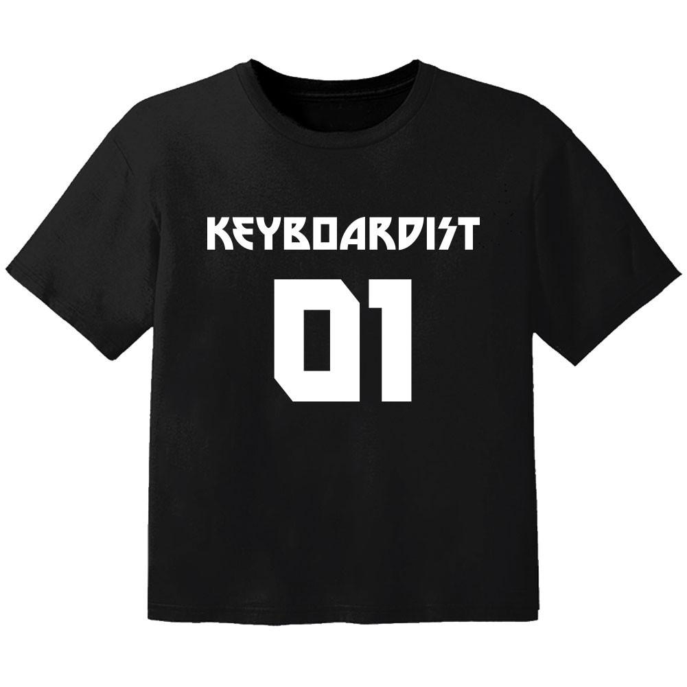 Camiseta Rock para bebé keyboardist 01