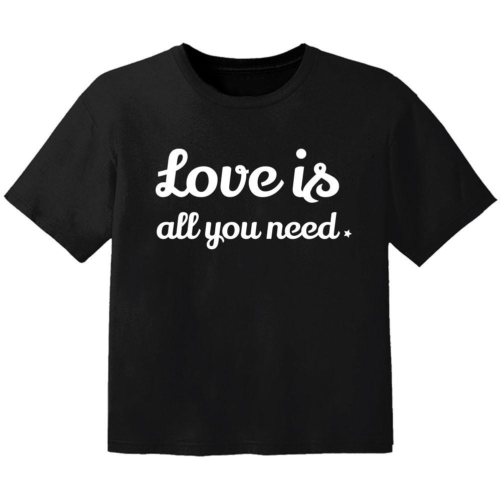 Camiseta Rock para niños love is all you need