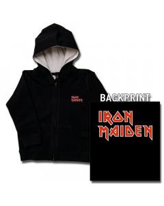 Chaqueta para niños de Iron Maiden con cremallera y capucha