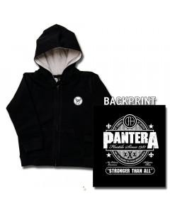 Chaqueta para bebé de Pantera Stronger Than All con cremallera y capucha