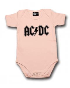 Body Bebé AC/DC Logo Pink