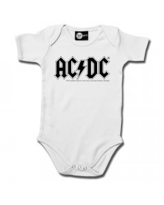 Body Bebé AC/DC Logo White