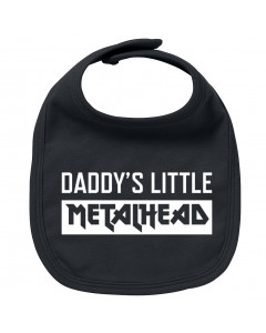 Babero bebe Metal Daddy's little Metalhead