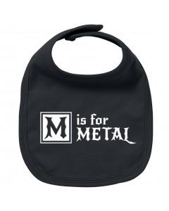 Babero bebe Metal M is for Metal