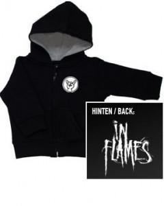 Chaqueta para bebé de In Flames con cremallera y capucha