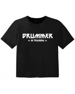 Camiseta Rock para bebé drummer in training