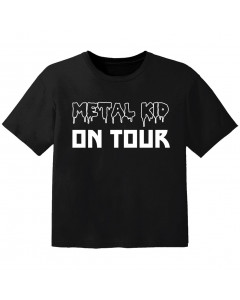 Camiseta Metal para bebé Metal kid on tour