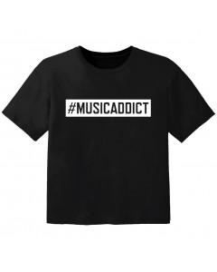 Camiseta Cool para bebé #musicaddict