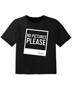 Camiseta Cool para bebé no pictures please
